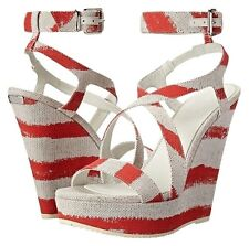 Burberry Farrah coral red sandals size 39 new in box