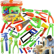 32x Children Kids Pretend Play Craftsman Carpentry Repair Toy Tools Kits Set