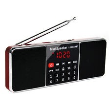 Red FM Stereo/AM Radio Receiver Bluetooth Multimedia Speaker Sleep Timer Player