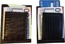 Lot of 2 New Lizard skin printed leather money clip, Unbranded money clip BNWT