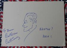 ORIGINAL DRAWING OF NORTON FROM  HONEYMOONERS SIGNED BY ART CARNEY LIFETIME COA