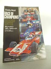 Brands Hatch Race of Champions Official Programme 18th March 1973