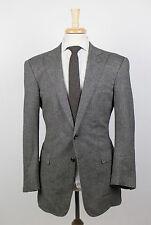New. RALPH LAUREN BLACK LABEL Gray Herringbone Wool Sport Coat 50/40 R $1595