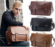 Mens Vintage faux Leather Briefcase Shoulder Messenger Satchel Handbag bag