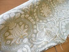 "Medallion Floral Taffeta Fabric Chenille  54""  Gold Yellow Sage green Damask"