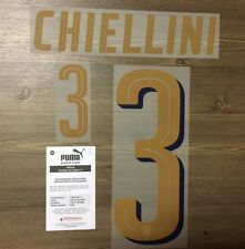Stilscreen Official Puma Italy Tribute Gold Away Nameset Print CHIELLINI 3