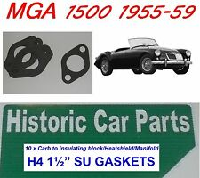 "10 x H4 1½"" SU CARB TO MANIFOLD GASKETS for MGA MG A 1500 1955-59"