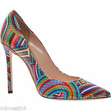 Emilio Pucci Multi Coloured Leather Signataure Pumps Heels Shoes BNIB UK 6 EU 39