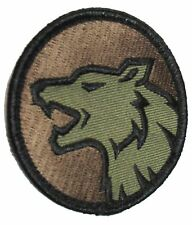 WOLF HEAD FIERCE DOG K9 MORALE USA ARMY FOREST PATCH VELCRO® BRAND FASTENER