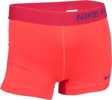 "NIKE WOMEN'S PRO 3"" COOL COMPRESSION ACTIVE TRAINING SHORTS RED XSMALL NEW! $28"