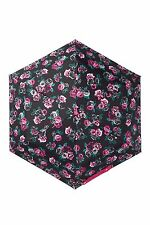 NWT Betsey Johnson MYSTERIOUS ROSE GARDEN Compact Automatic Umbrella