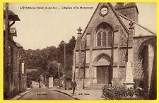cpa 78 - L'ÉTANG La VILLE en 1938 L'ÉGLISE Sainte Anne et le MONUMENT aux MORTS