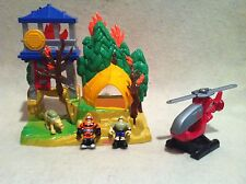 Rescue Heroes Micro Adventures Fire Down Under Playset!