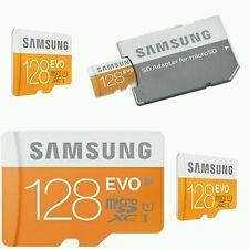 128GB MICRO SDXC Speicherkarte Samsung Evo Class 10 UHS-1 Memory Card + Adapter