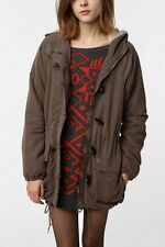 Obey Sherpa Anorak Military Parka Jacket Coat XS-S abercrombie urban outfitters