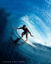 Surfing : Riding the Tube - Mini Poster 40cm x 50cm (new & sealed)