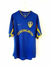 Leeds United Away Shirt 2001. Small Adults. Nike. Blue Adults S Utd Football Top