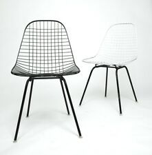 Herman Miller Eames 1960's Wire Desk Dining Task Chair (Black and White Avail)