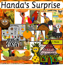 HUGE HANDA'S  SURPRISE HANDAS HEN Story teaching resources for a sack EYFS KS1