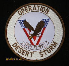 OPERATION DESERT STORM VICTOR FEB 27 91 HAT PATCH US MARINES NAVY ARMY AIR FORCE