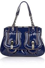 FENDI B BAG PATENT HANDBAG