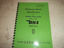 BSA M20 1939-44 WD MODELS MAINTENANCE & INSTRUCTION MANUAL BW18