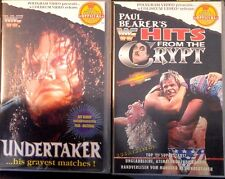 WWF Undertaker gravest Matches & Paul Bearer Crypt ORIG 2 VHS Set WWE  deutsch