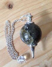 Labradorite Sphere Pendulum, crystal healing, Reiki, divining, dowsing gemstone