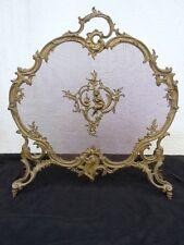 Pare feu étincelles putti bronze doré Charles Casier époque Napoléon III 19ème