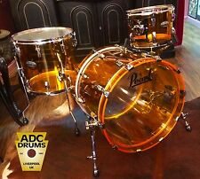 Pearl Crystal Beat Tangerine Glass Acrylic Drum Kit 20/12/14: New 3pc Shell Pack