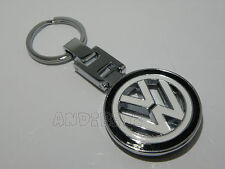BLACK CHROME KEY CHAIN KEYRING VW GOLF POLO JETTA PASSAT LUPO FOX CAR SHARAN