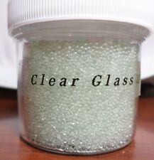Clear Glass 1-1.5mm 30g Jar Micro/Fairy/Craft No Hole Beads USA Shipper