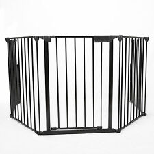 Baby Child Safety Hearth Gate BBQ Metal Fire Gate Fireplace Pet Dog Cat Fence