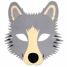 Wolf Foam Face Mask - Fancy Dress Animal Halloween - Made by Blue Frog Toys Ltd