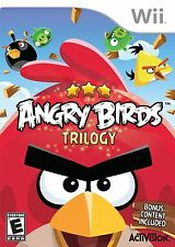 BRAND NEW SEALED WII incl. 3 GAMES -- Angry Birds Trilogy (Nintendo Wii, 2013)