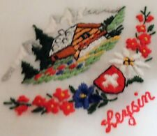 Vintage Leysi Embroidered Handerchiefs Decant Estate Decorative Ladies Accessory