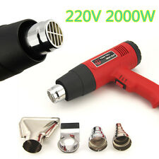 Hot Air Heat Gun Dual Temperature Paint Stripper DIY Tool + 4 Nozzle EU Plug New