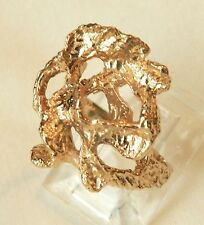 14KT Gold Heavy Freeform Abstract Large Ring 7.3 gr
