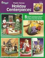 Holiday Centerpieces Plastic Canvas Pattern Lee Lindeman Christmas Halloween NEW