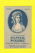 ADVERTISING - LEHCARESOR - RARE ADVERTISING CARD - PAPIER  POUDRE  2  -  1930's