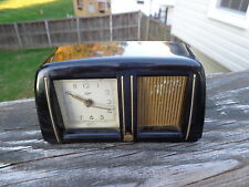 RARE SMALL  VINTAGE STAIGER GERMANY  Musical  ALARM CLOCK