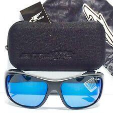NEW* Arnette HEIST in Black Sport Wrap Frame w Blue Lens Sunglass 4135-01/55