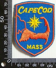 VINTAGE CAPE COD MASSACHUSETTS EMBROIDERED SOUVENIR PATCH WOVEN CLOTH SEW BADGE