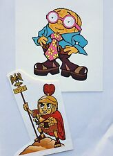 Original paintings of 4 Weetabix Characters & The Weetabix British History book.