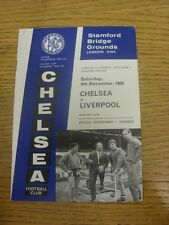 04/12/1965 Chelsea v Liverpool  (Creased, Folded).  Any faults with this item wi