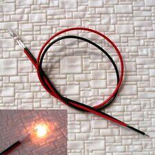 S032 - 20 Stück Mini Lämpchen klar 3mm 14-16V mit Kabel Glühlämpchen verkabelt