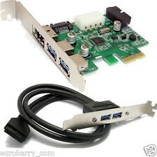 2 puertos USB 3.0 eSATA SATA 20 pin PCI-e PCI Express card + USB 3.0 20 pin header