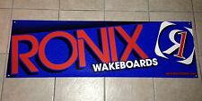 "2013 RONIX BANNER BLUE 48"" * 15""  Wakeboard With 2 RONIX Stickers Decals"