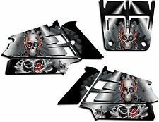 YAMAHA BANSHEE GRAPHICS WRAP DECAL STICKER KIT TURBO CHARGED SHROUDS BLACK