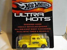 Hot Wheels Ultra Hots Yellow '50s Chevy Truck w/Real Riders